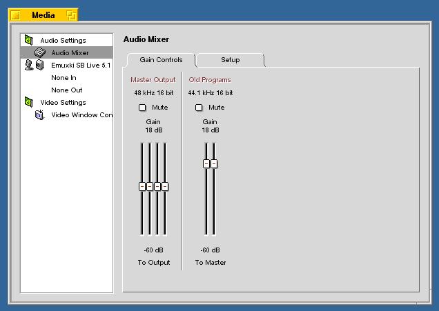 Audio Mixer Gain Controls