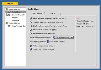 Audio Mixer Setup