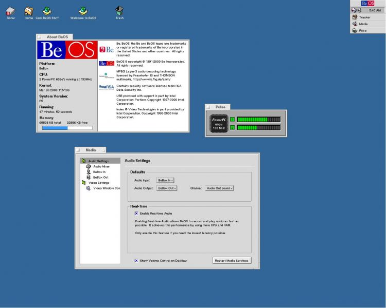 BeOS R5 on BeBox