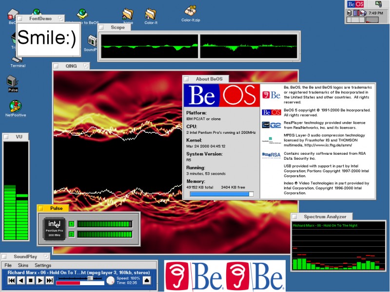 BeOS R5 on Dual iP Pro 200Mhz [1]