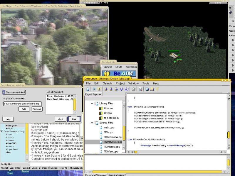 BeOS Zeta - скриншот 2