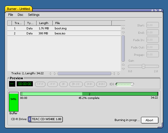 CDBurner Screenshot [3]