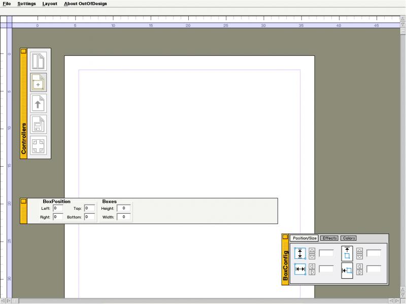 OutOfDesign - главное окно