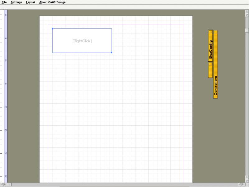 OutOfDesign - окно документа, все инструмены скрыты