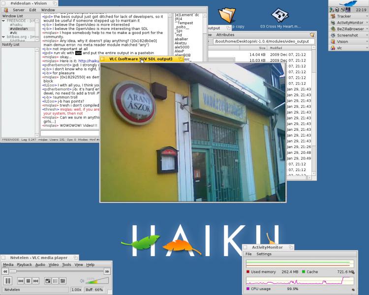 VLC 1.04 в Haiku