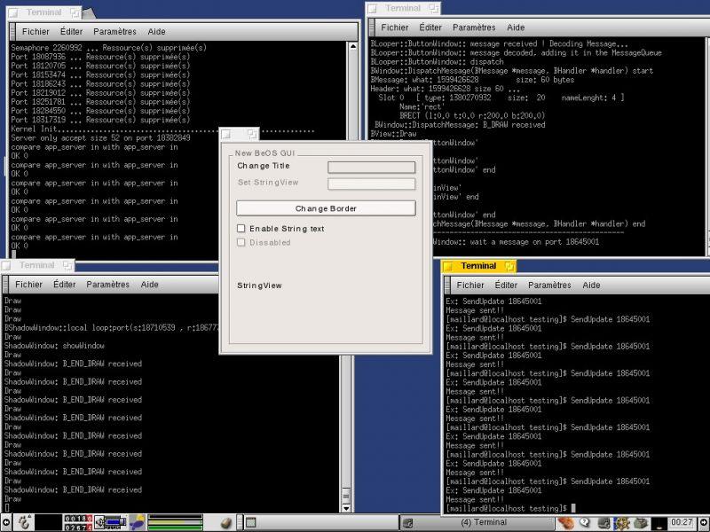 Скриншот терминала в BlueOS