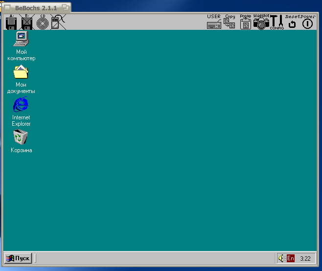 Windows 98 в BeBochs